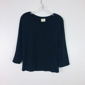 Pins and needles black long sleeve top size M